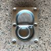 Lashing Ring (Double) Flush Mount with Drain Holes 105mm x 145mm Zinc Rated 2000LBS