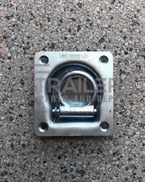 Lashing Ring (Single) Flush Mount 96mm x 162mm Zinc Rated 2000LBS