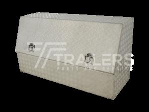 3/4 Opening Aluminium Checker Plate Tool Box 16