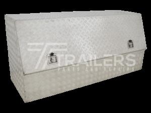 3/4 Opening Aluminium Checker Plate Tool Box 17