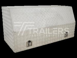 Full Opening Aluminium Checker Plate Tool Box 18