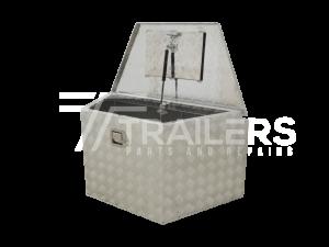 Drawbar Aluminium Checker Plate Tool Box 19