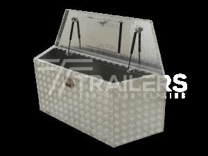 Drawbar Aluminium Checker Plate Tool Box 19B