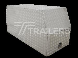 Cross Deck Aluminium Checker Plate Tool Box 25