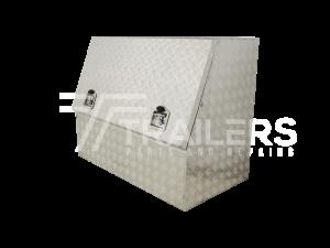 3/4 Opening Aluminium Checker Plate Tool Box 4