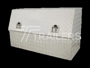 3/4 Opening Aluminium Checker Plate Tool Box  5