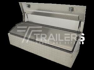 Chest Style Aluminium Checker Plate Tool Box 7B