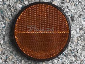 Amber Round Reflector 40mm Dia