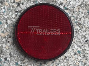 Red Round Reflector 40mm Dia