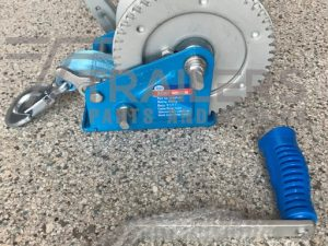 ARK Winch 900kg 5:1/1:1 ratio,7.5m x 50mm Strap