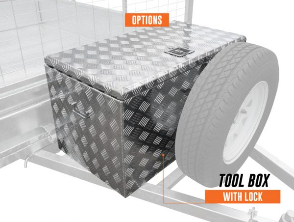 6 x 4 PREMIUM Box Tipping Trailer (Fully Welded) 300mm High Side 750kg ATM