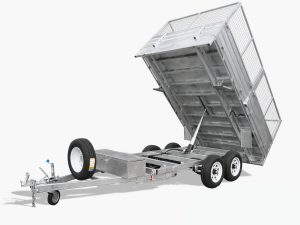 12 x 7 Hydraulic Tipping Trailer, Dual Axle, Heavy Duty, 3500kg ATM