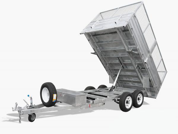 12 x 7 Flat Top Hydraulic Tipping Trailer, Dual Axle, Heavy Duty, 3500kg ATM