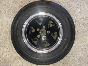 165R13 Koya Alloy Black Rim and Light Truck Tyre Rated at 675kg Ford Stud